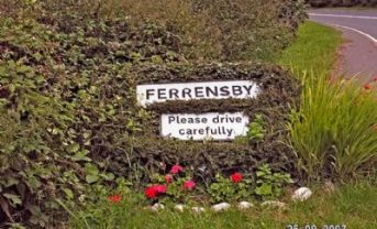 Ferrensby village sign