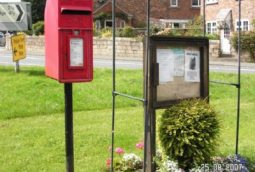 Ferrensby noticeboard and postbox